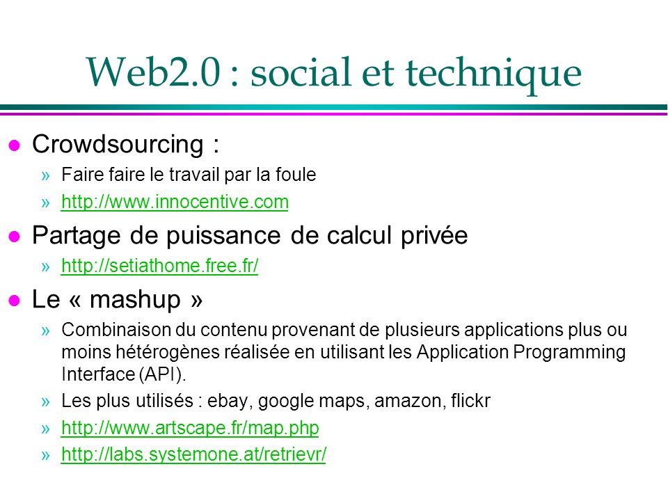Web2.0 : social et technique