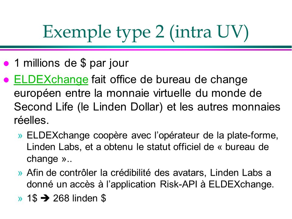 Exemple type 2 (intra UV)
