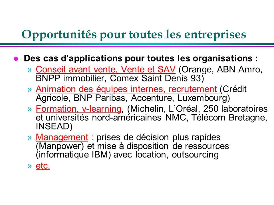 Opportunités pour toutes les entreprises