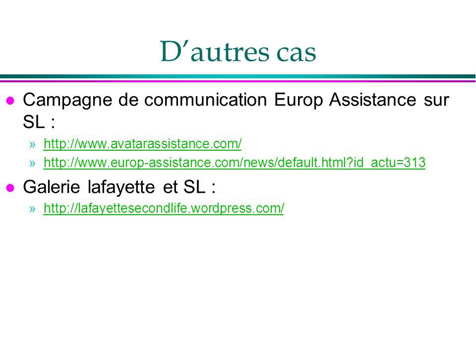 D'autres cas Campagne de communication Europ Assistance sur SL :