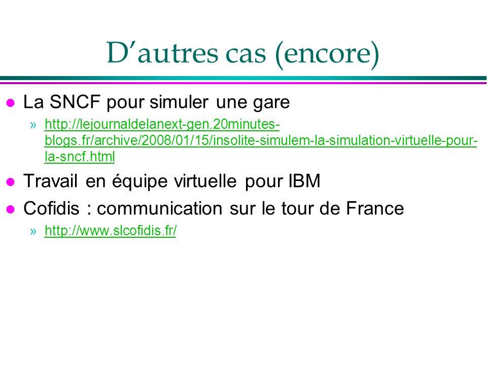 D'autres cas (encore) La SNCF pour simuler une gare