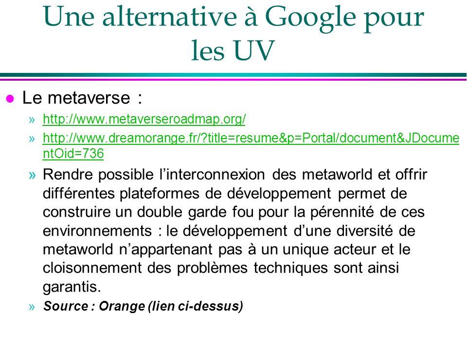 Une alternative à Google pour les UV