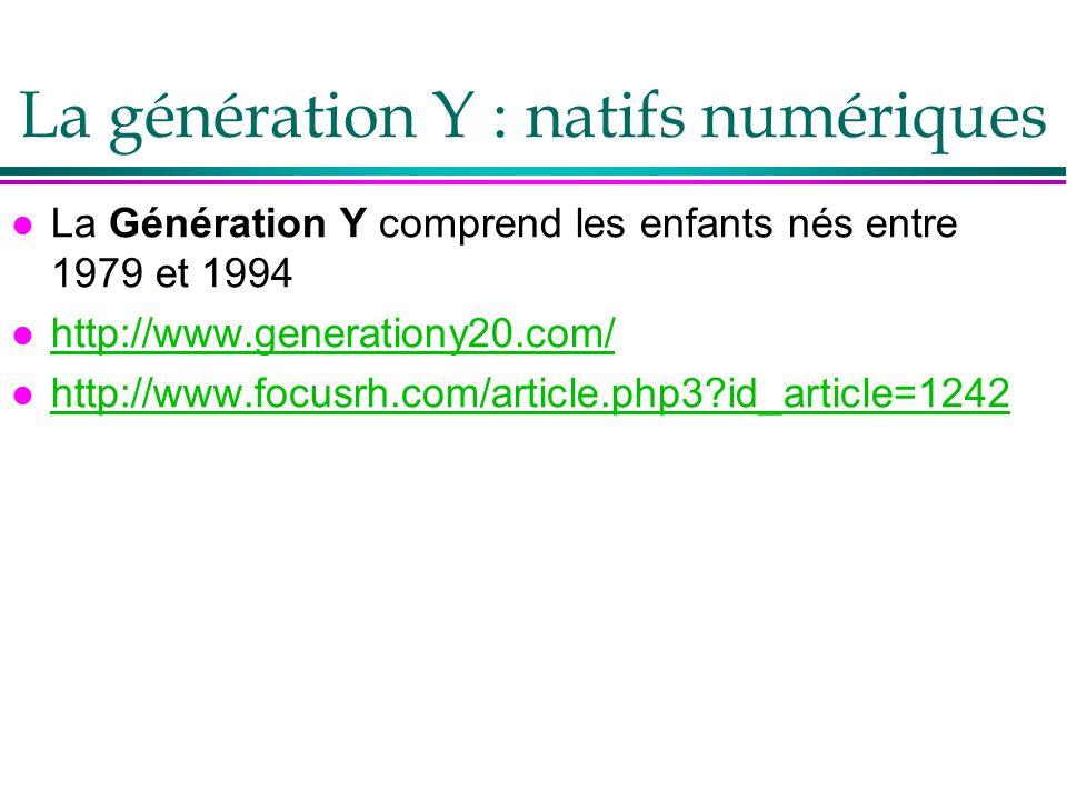 La génération Y : natifs numériques