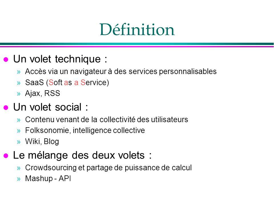 Définition Un volet technique : Un volet social :