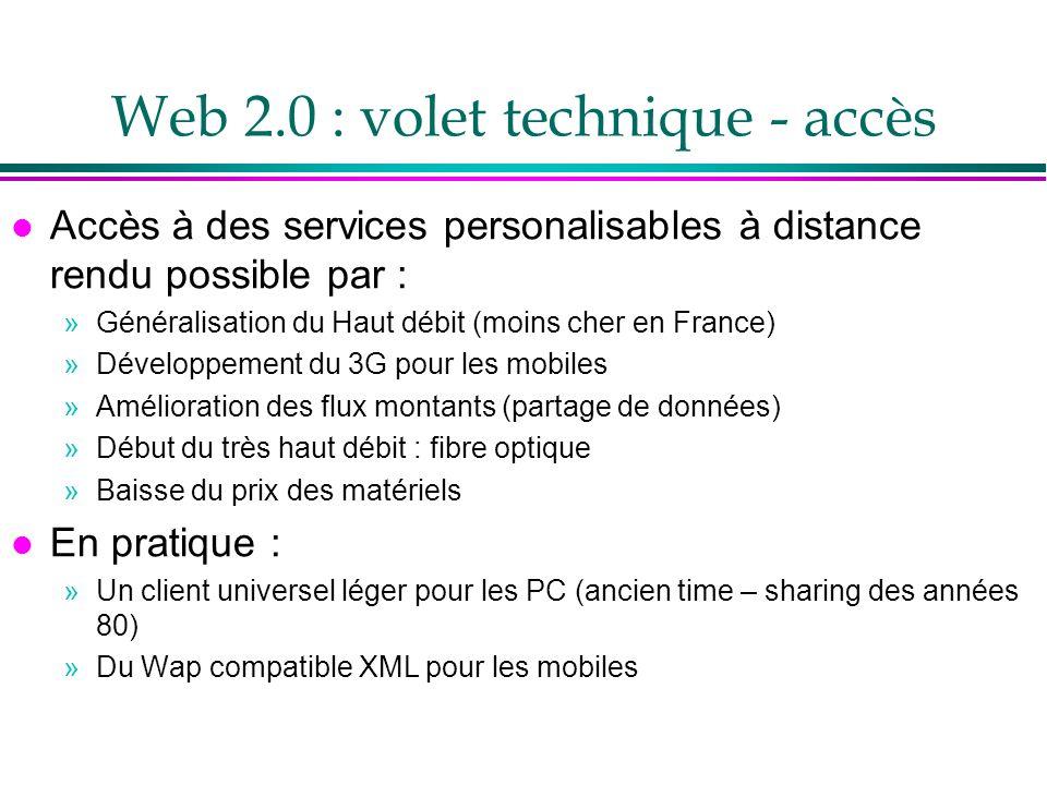 Web 2.0 : volet technique - accès