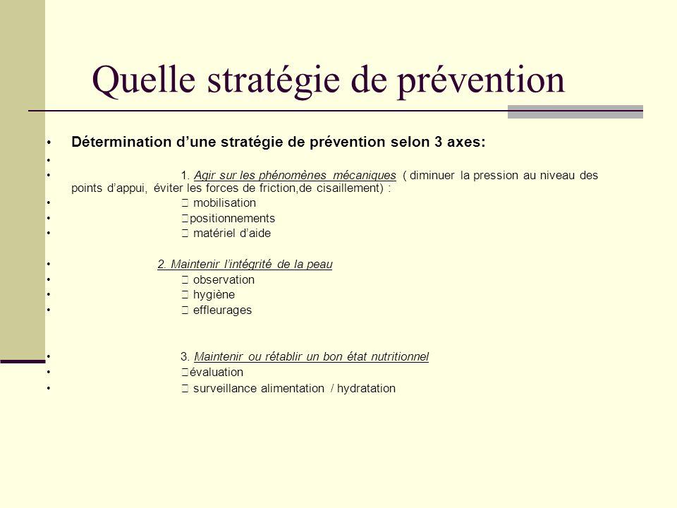 Quelle stratégie de prévention