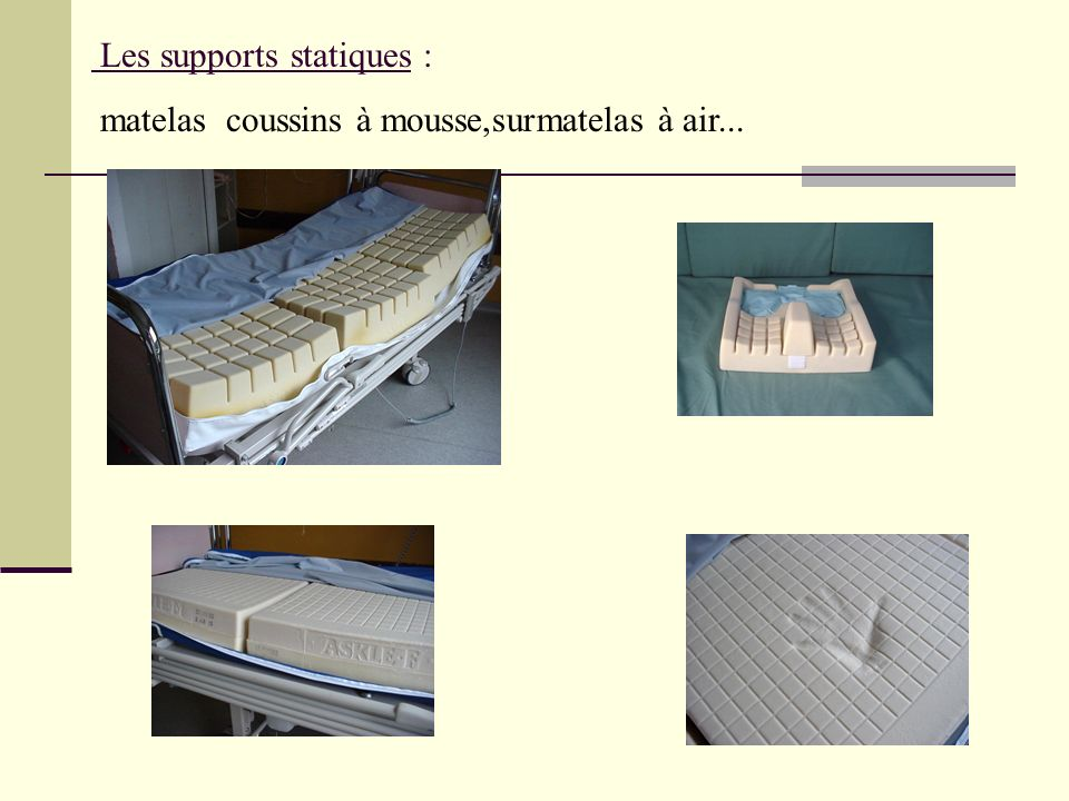 Les supports statiques :