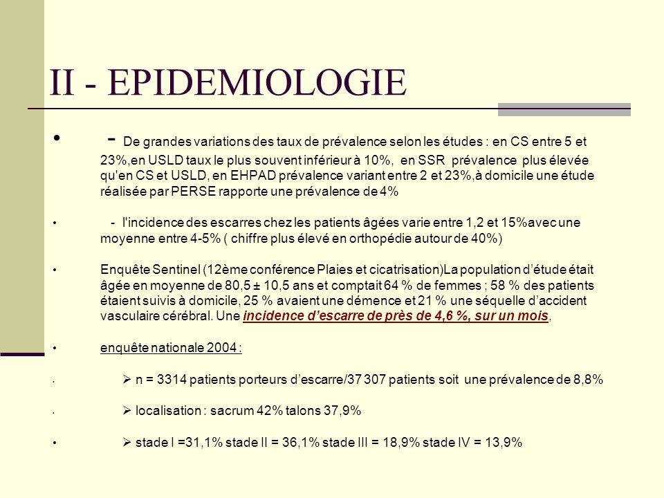 II - EPIDEMIOLOGIE