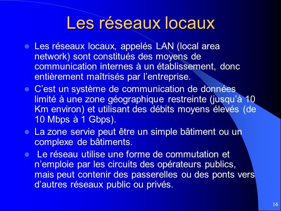 Les réseaux locaux
