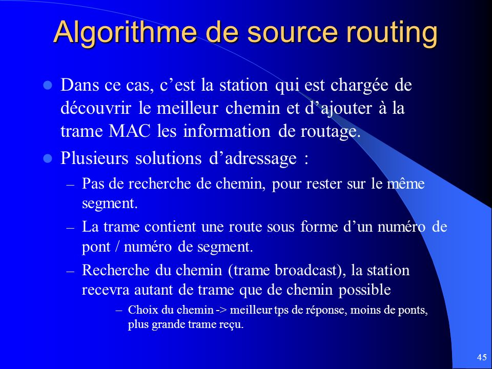 Algorithme de source routing