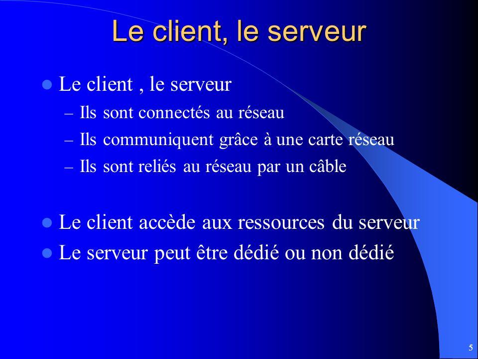 Le client, le serveur Le client , le serveur