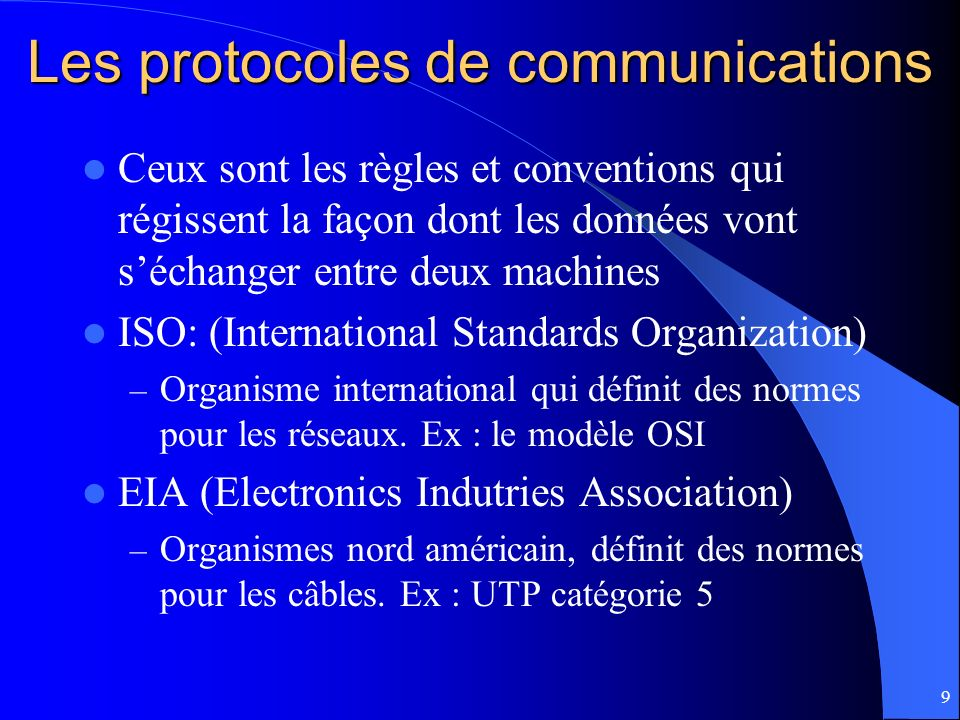 Les protocoles de communications