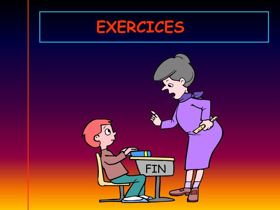 EXERCICES FIN