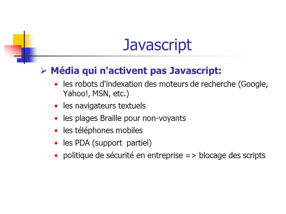 Javascript Média qui n activent pas Javascript: