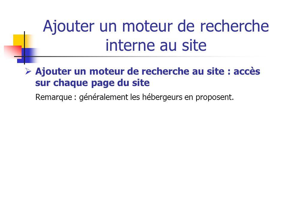 Ajouter un moteur de recherche interne au site