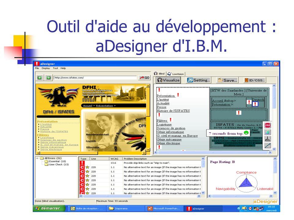 Outil d aide au développement : aDesigner d I.B.M.