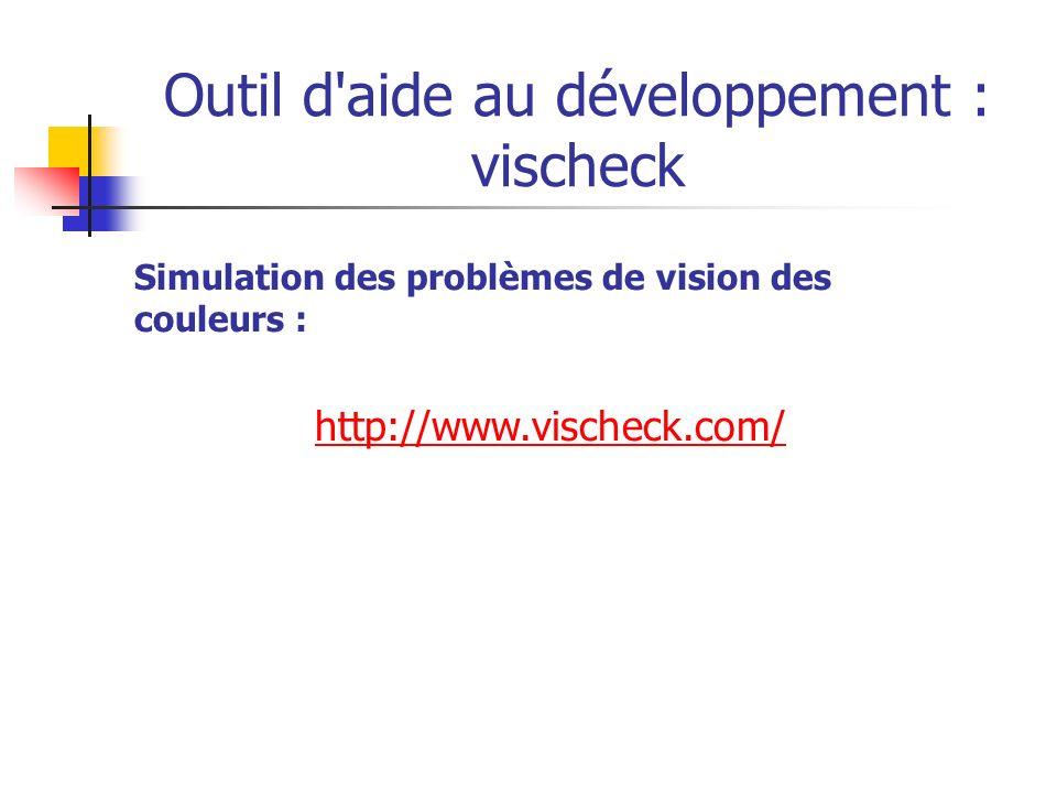 Outil d aide au développement : vischeck