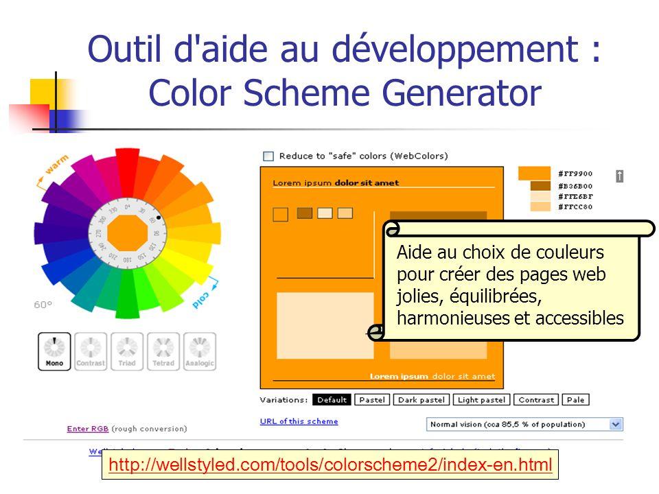 Outil d aide au développement : Color Scheme Generator
