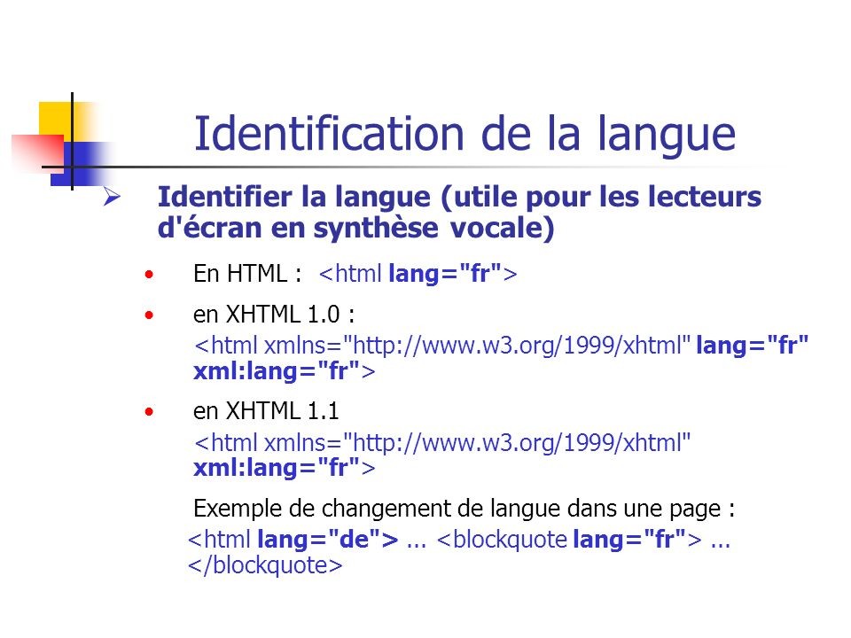 Identification de la langue