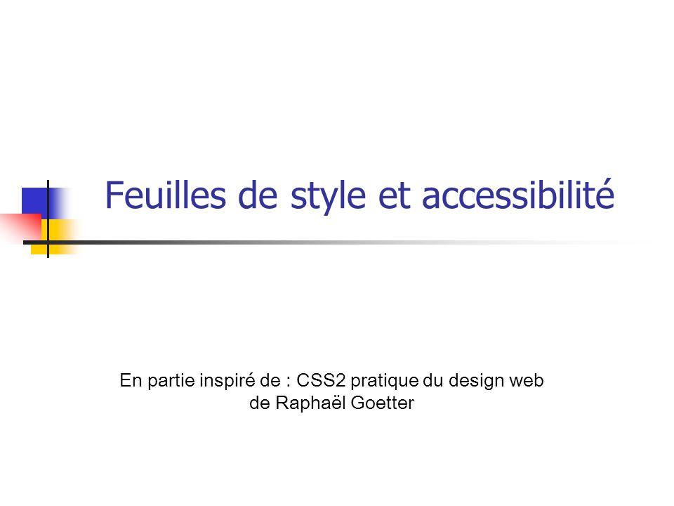 Feuilles de style et accessibilité