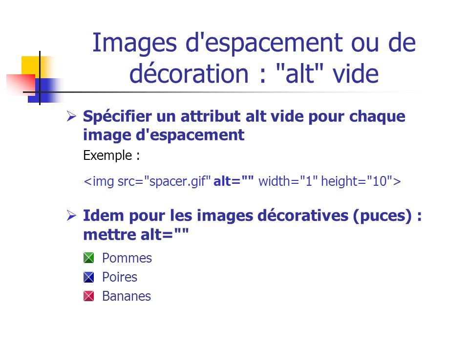 Images d espacement ou de décoration : alt vide