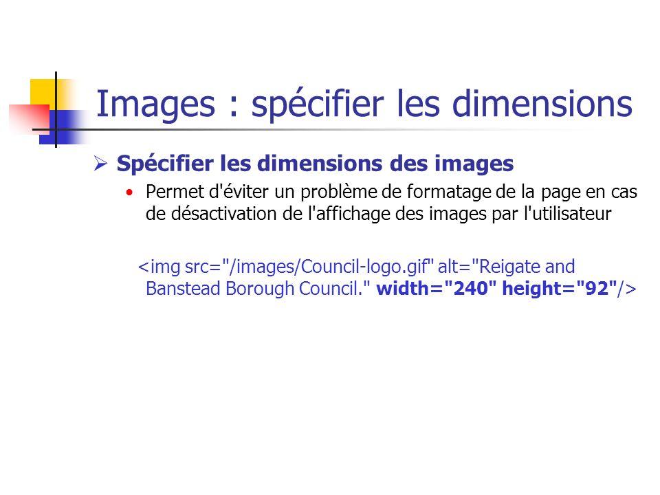 Images : spécifier les dimensions