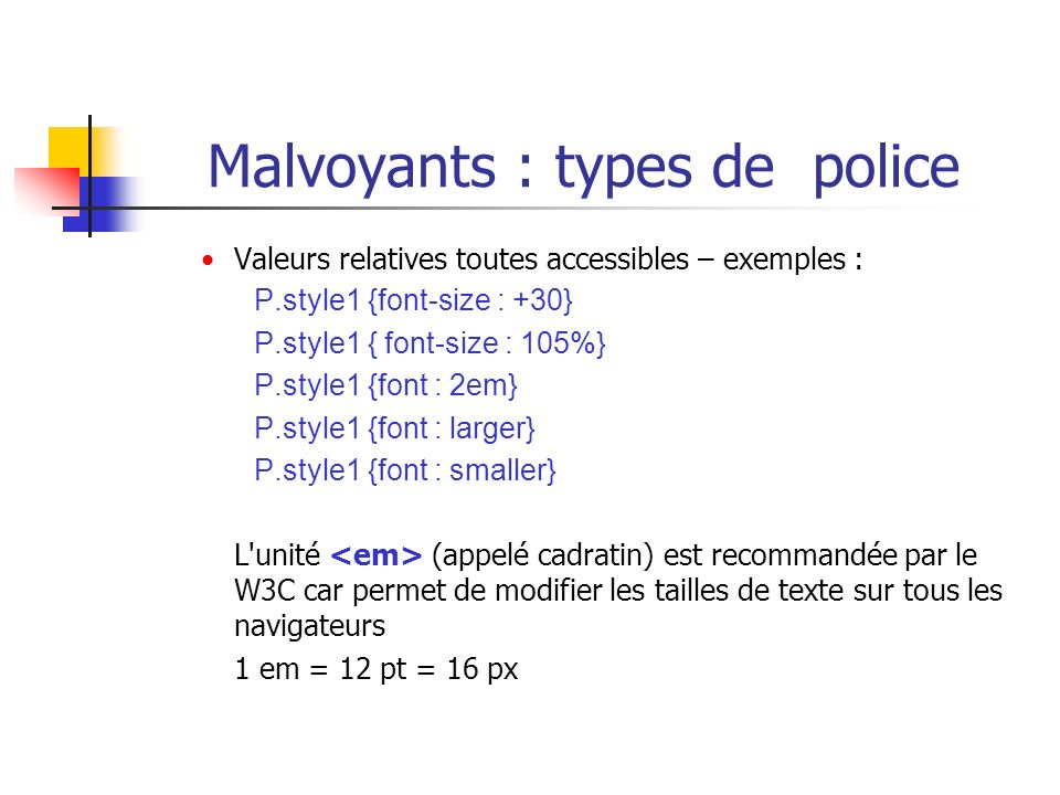 Malvoyants : types de police
