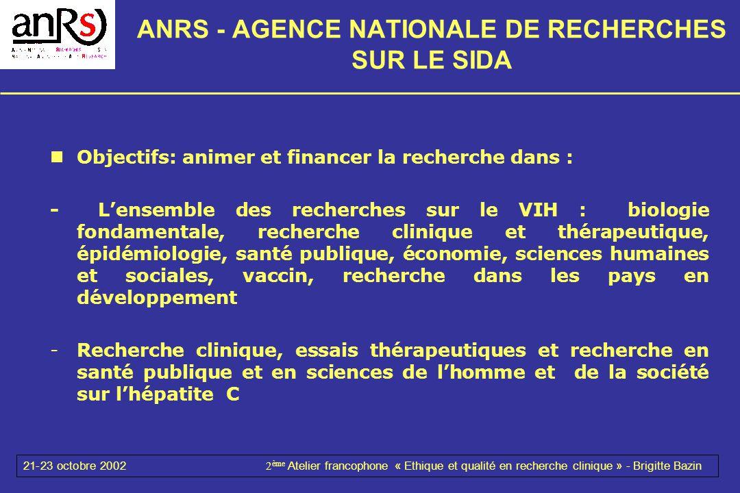 ANRS - AGENCE NATIONALE DE RECHERCHES SUR LE SIDA