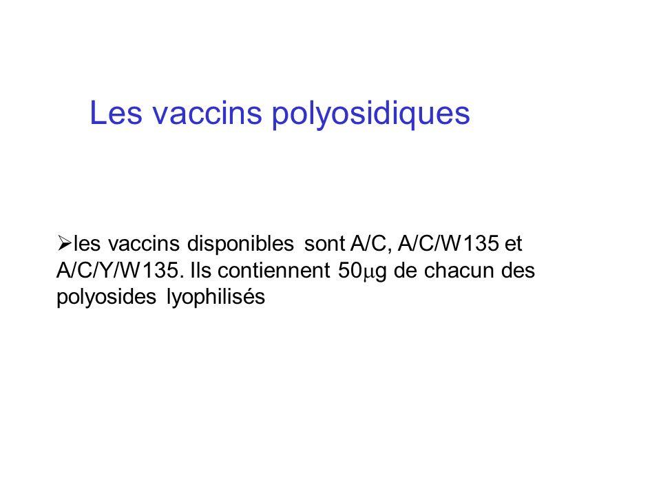 Les vaccins polyosidiques