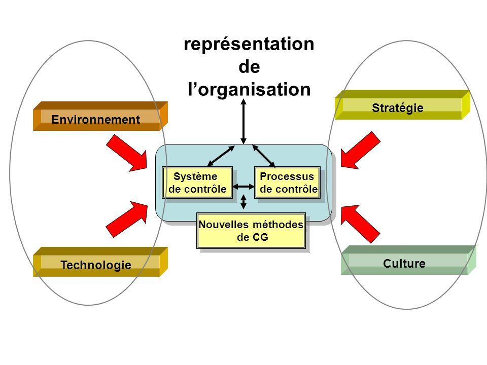 représentation de l'organisation