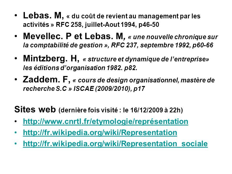 Sites web (dernière fois visité : le 16/12/2009 à 22h)