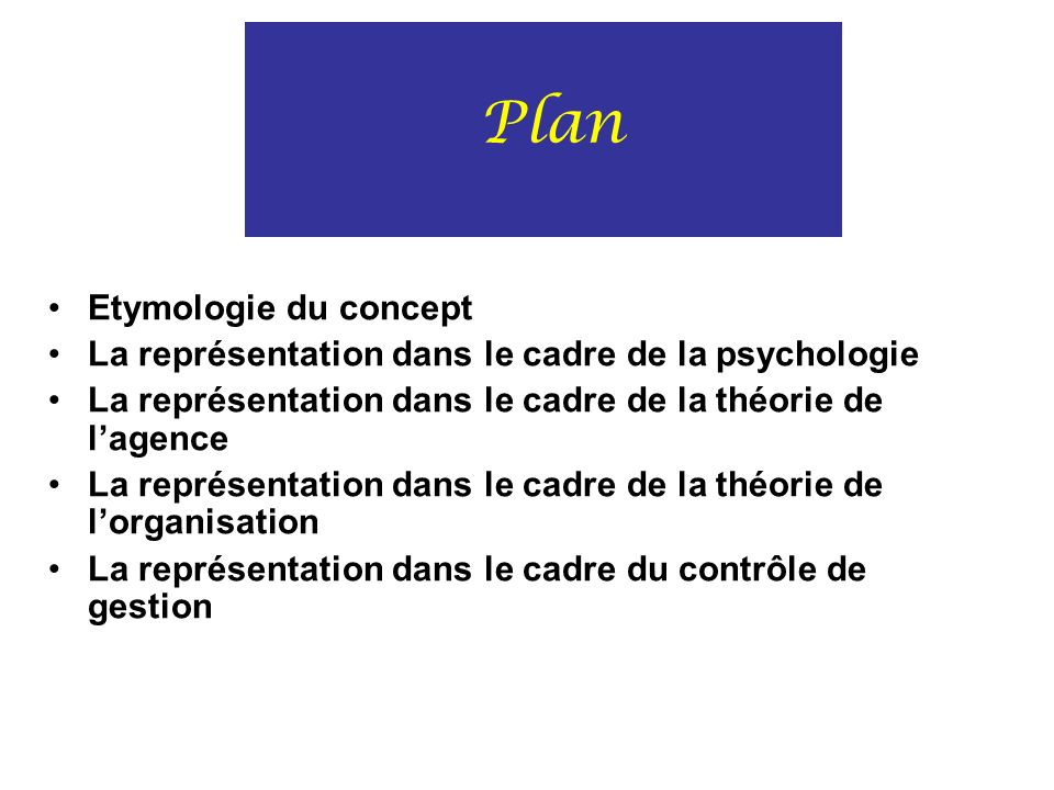 Plan Etymologie du concept