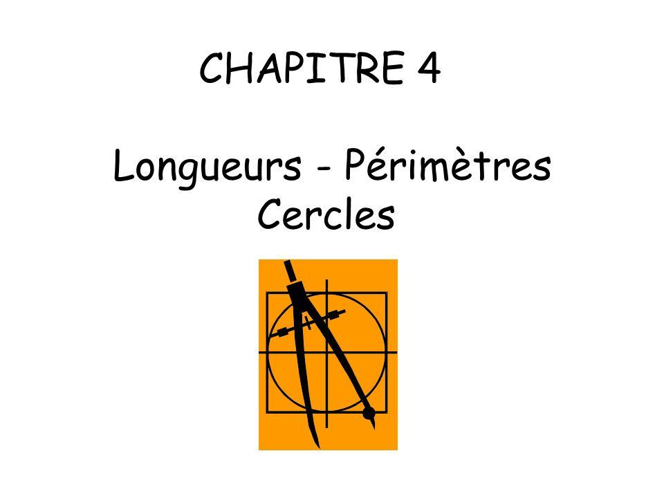 CHAPITRE 4 Longueurs - Périmètres Cercles