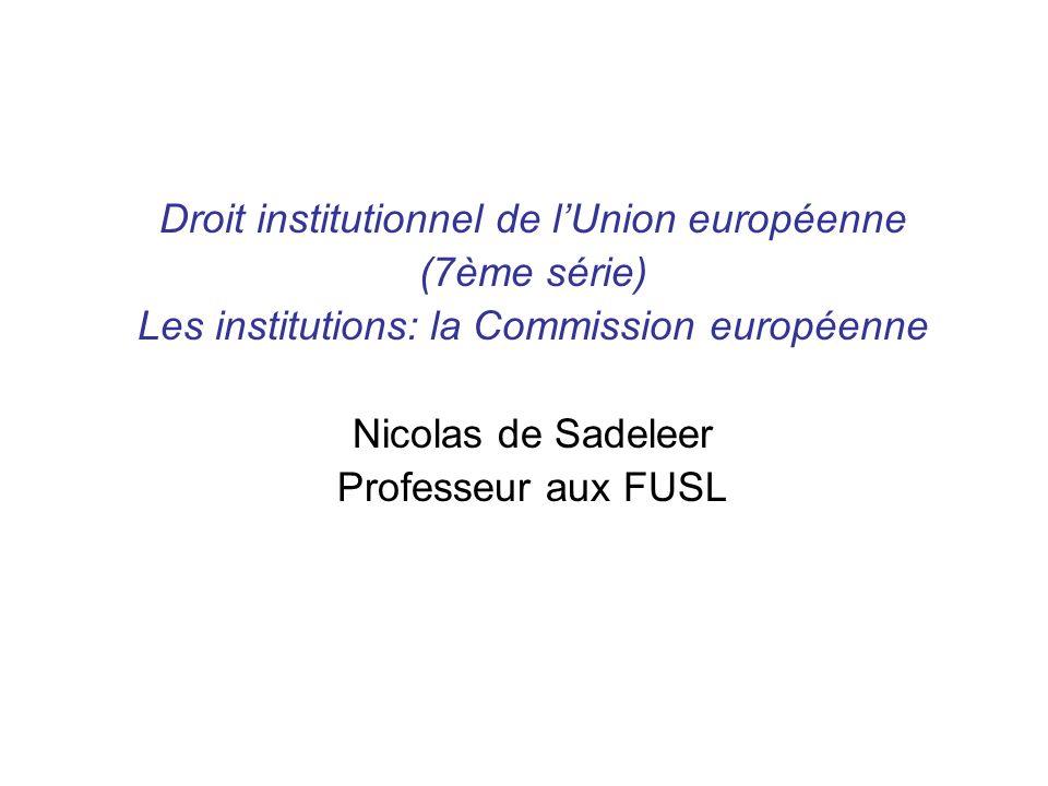 Droit institutionnel de l'Union européenne (7ème série)