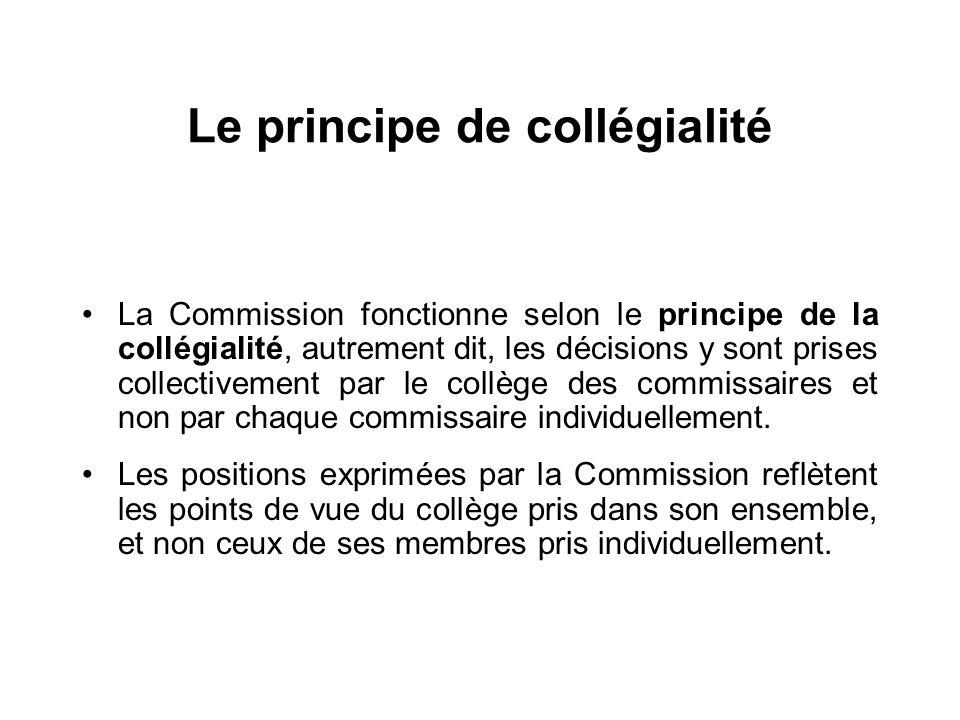 Le principe de collégialité