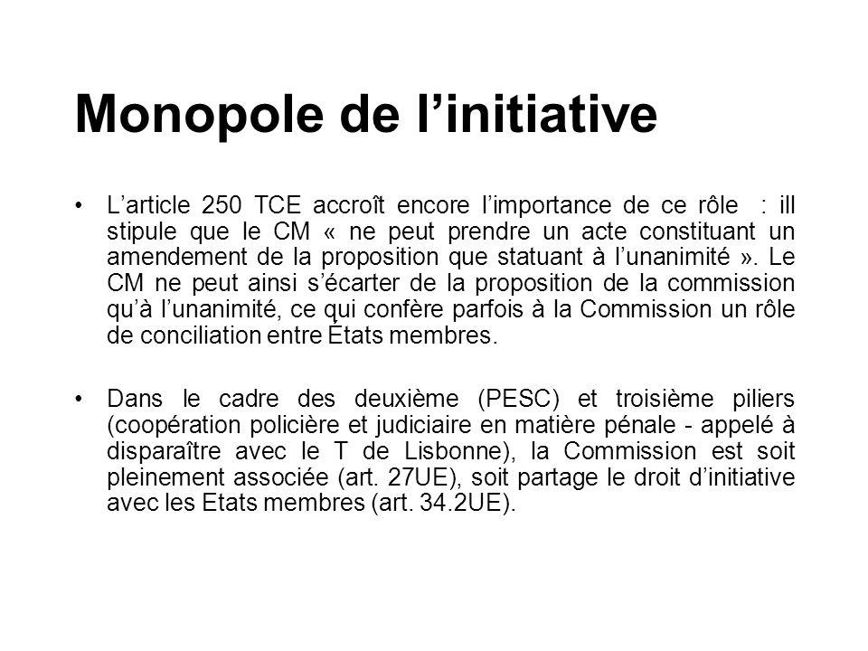 Monopole de l'initiative