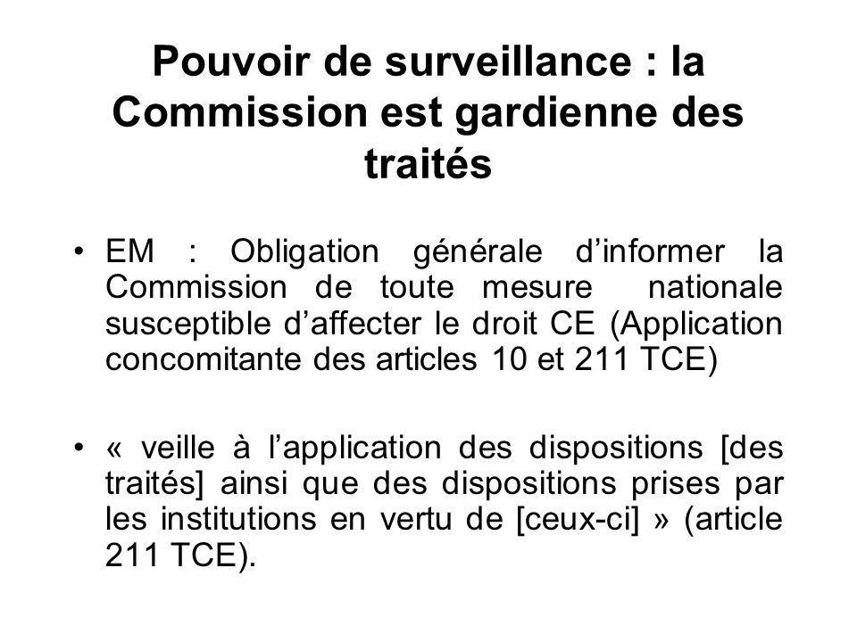 Pouvoir de surveillance : la Commission est gardienne des traités