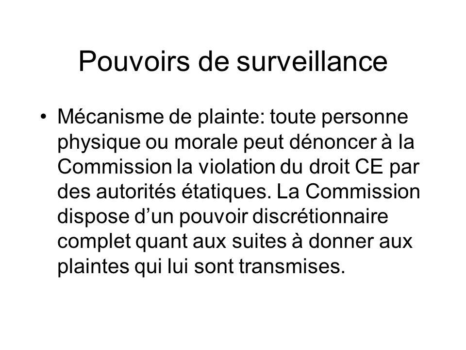 Pouvoirs de surveillance