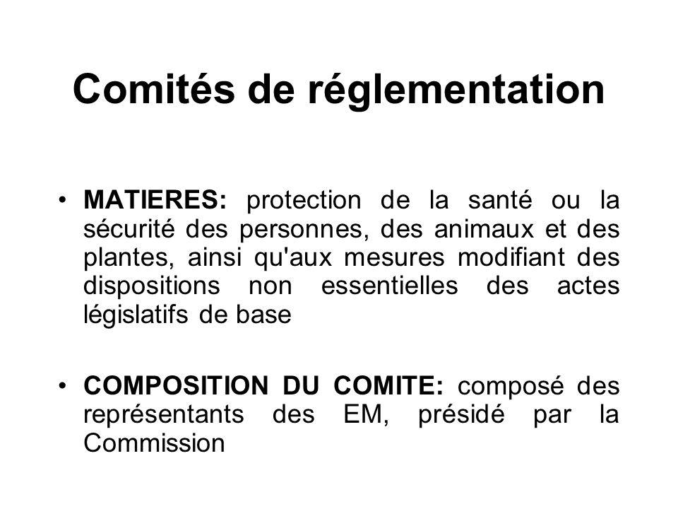Comités de réglementation