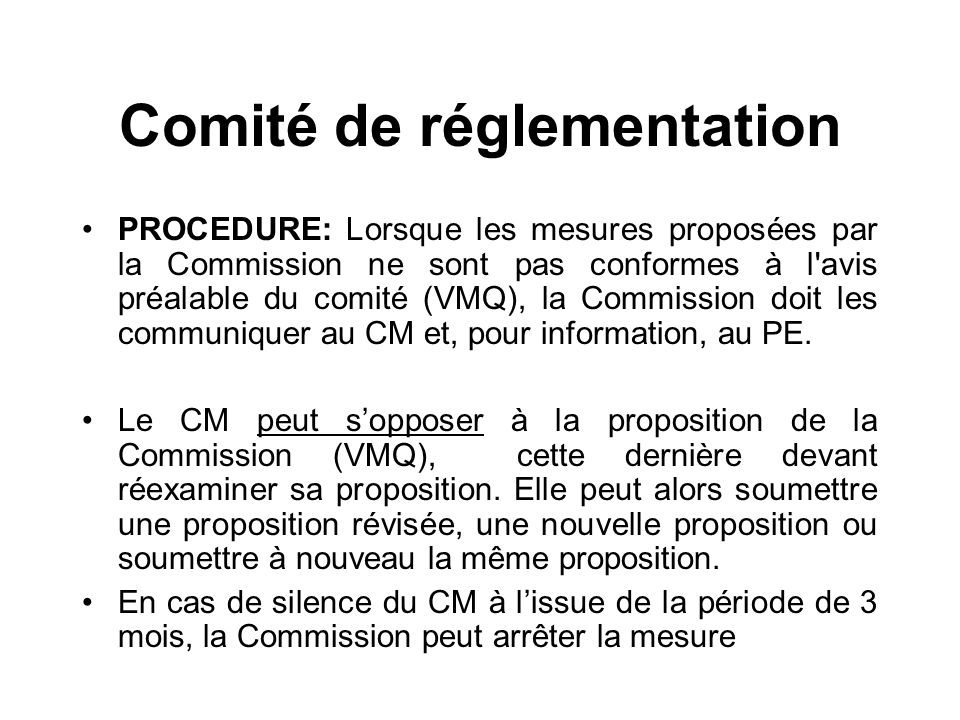 Comité de réglementation