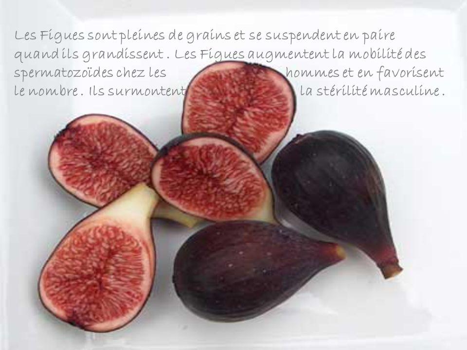 Les Figues sont pleines de grains et se suspendent en paire