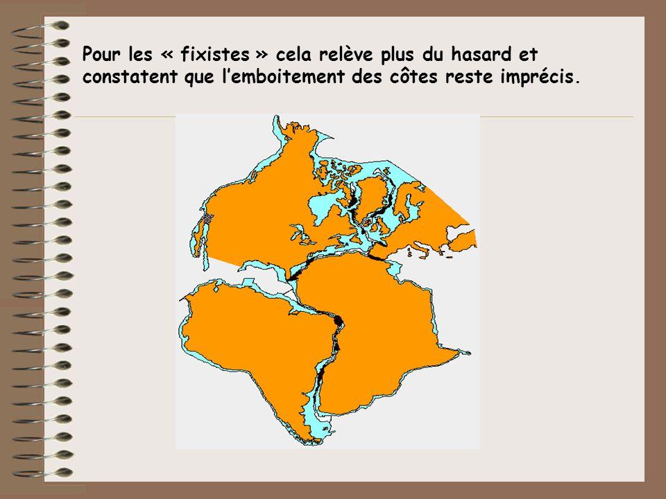 Pour les « fixistes » cela relève plus du hasard et constatent que l'emboitement des côtes reste imprécis.