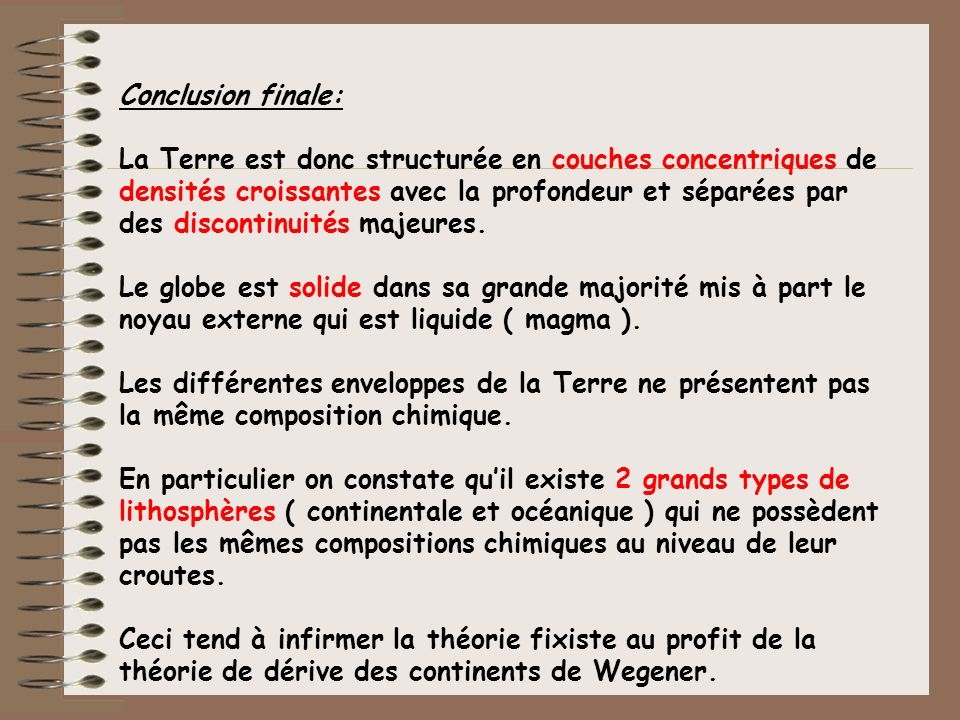 Conclusion finale: