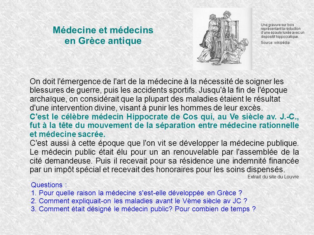 Médecine et médecins en Grèce antique