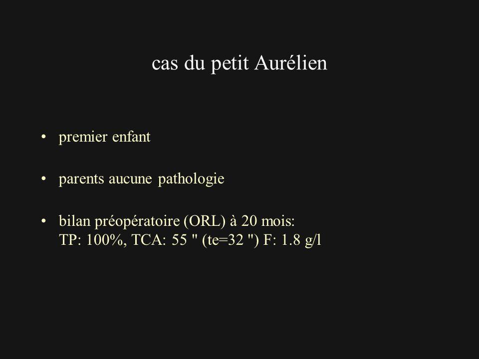 cas du petit Aurélien premier enfant parents aucune pathologie