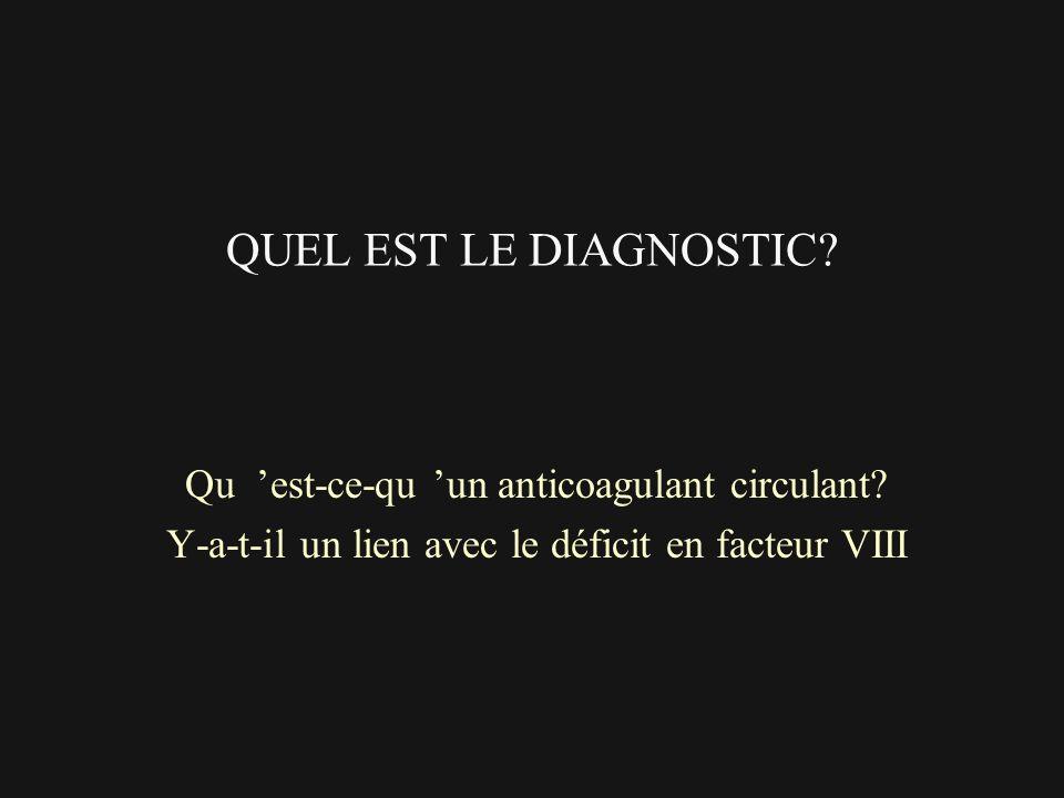 QUEL EST LE DIAGNOSTIC Qu 'est-ce-qu 'un anticoagulant circulant