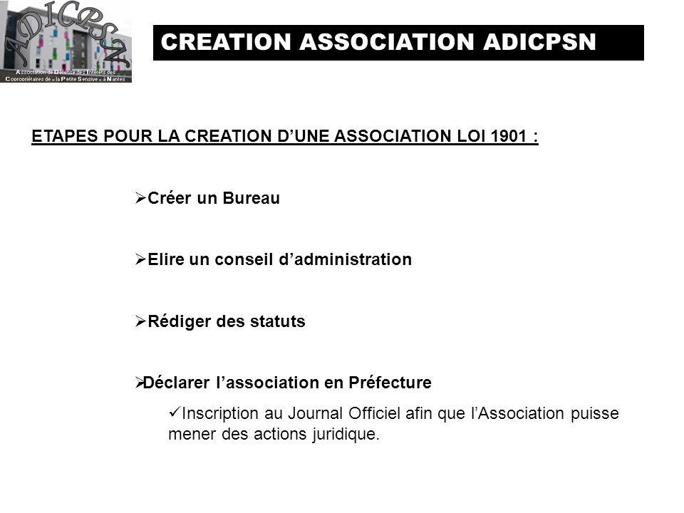 CREATION ASSOCIATION ADICPSN ppt tlcharger