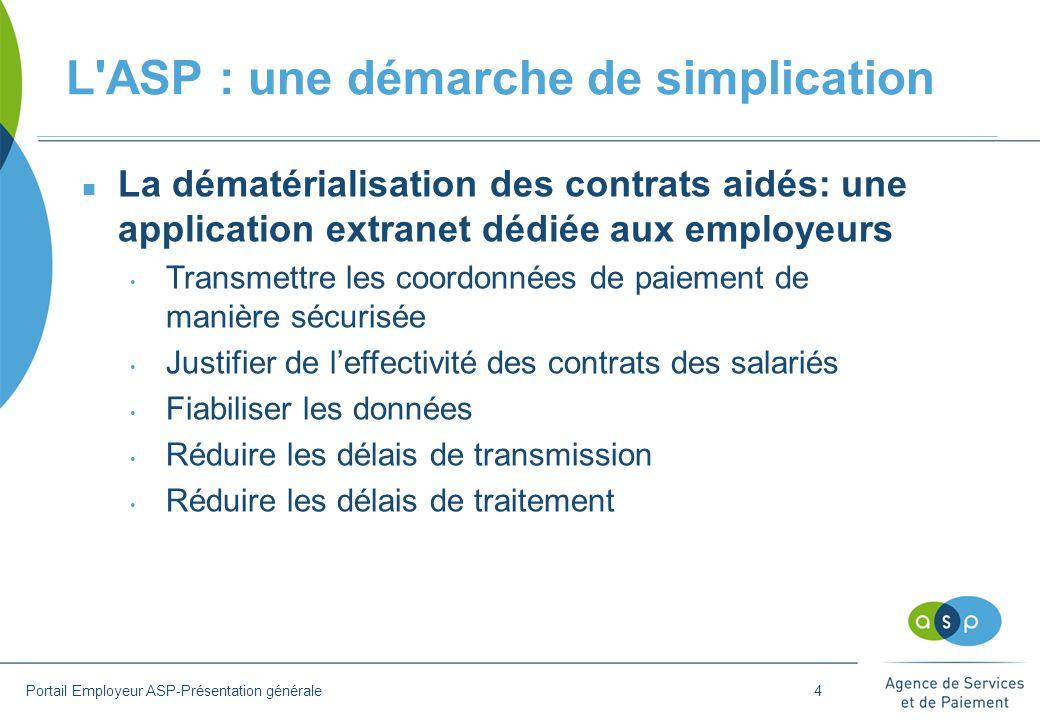 L ASP : une démarche de simplication