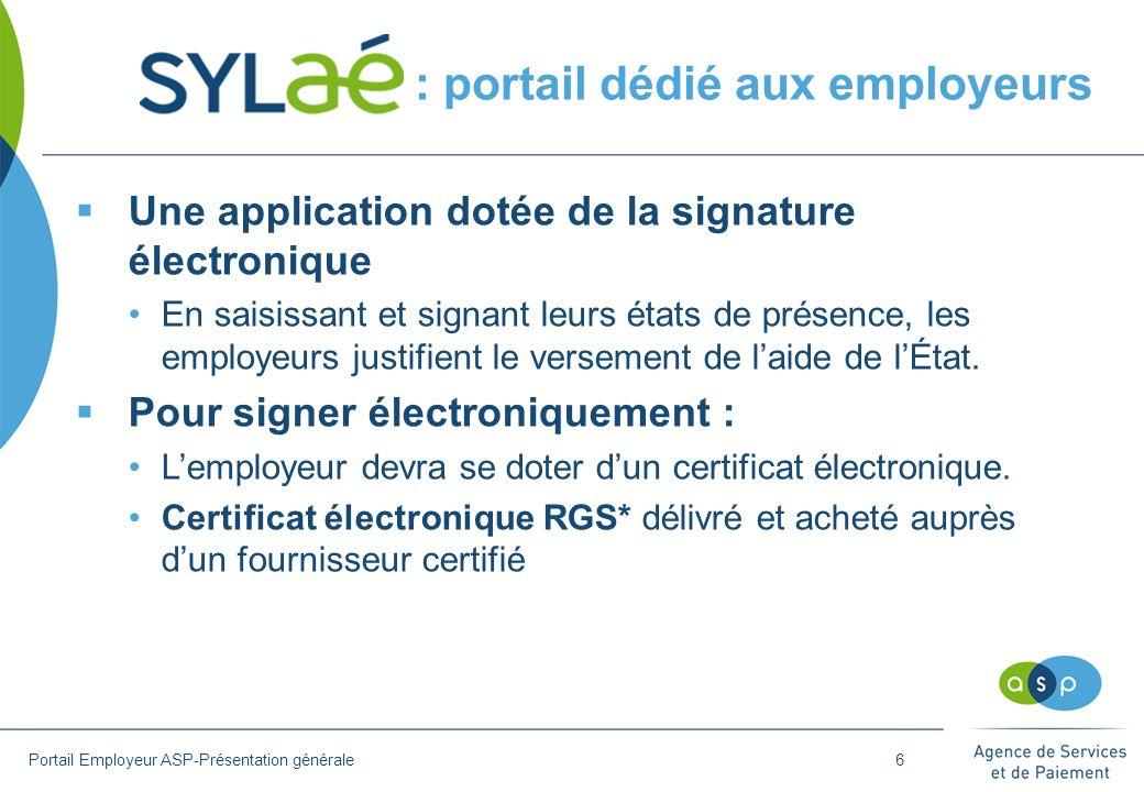 : portail dédié aux employeurs