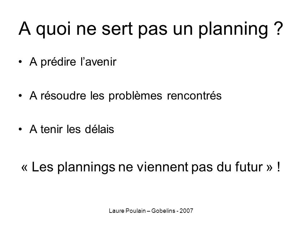 A quoi ne sert pas un planning